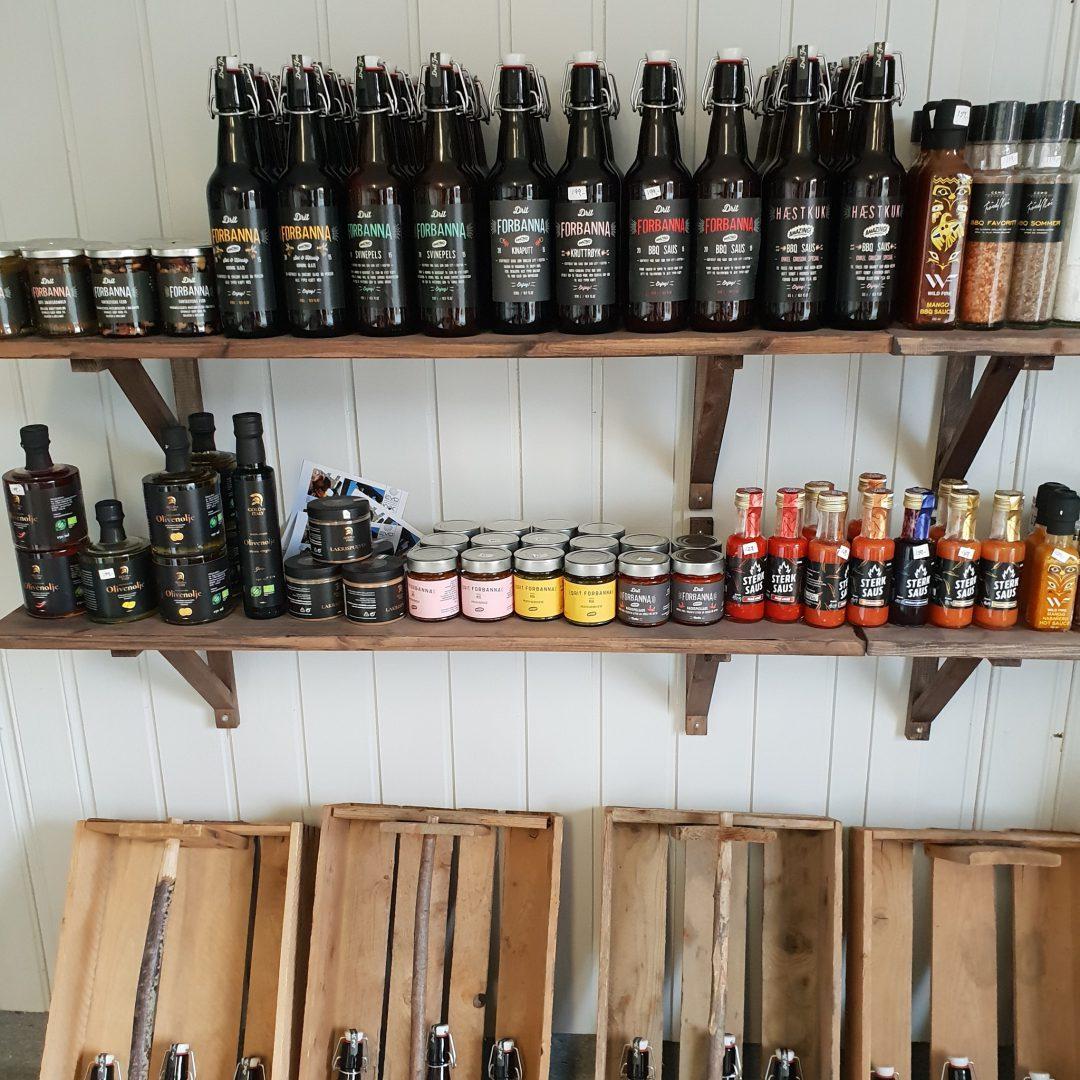Bilde av varer i Haugslia Gårdsbutikk