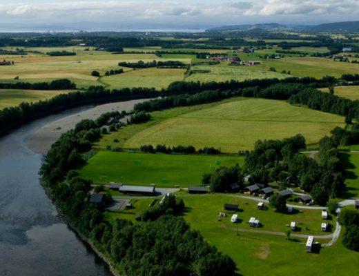 Flyfoto av Stiklestad Camping